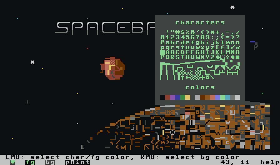 EDSCII - an ASCII/ANSI art tool